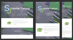 SJ Home Tuition Responsive Website