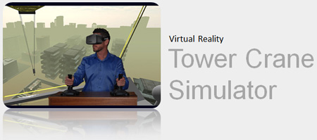Tower Crane Training Simulator with Oculus Rift